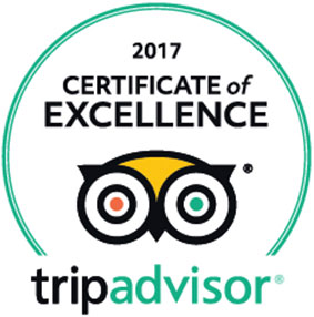 Trip Advisor Cwertificate of Excellence 2017