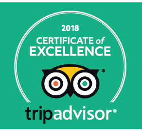 Trip Advisor Cwertificate of Excellence 2018