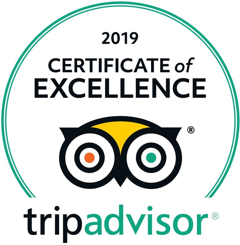 Trip Advisor Cwertificate of Excellence 2019