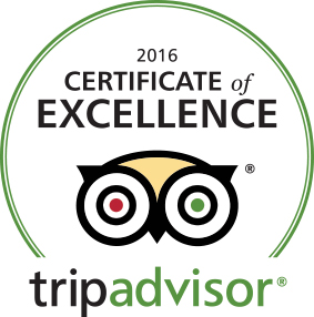 Trip Advisor Cwertificate of Excellence 2016