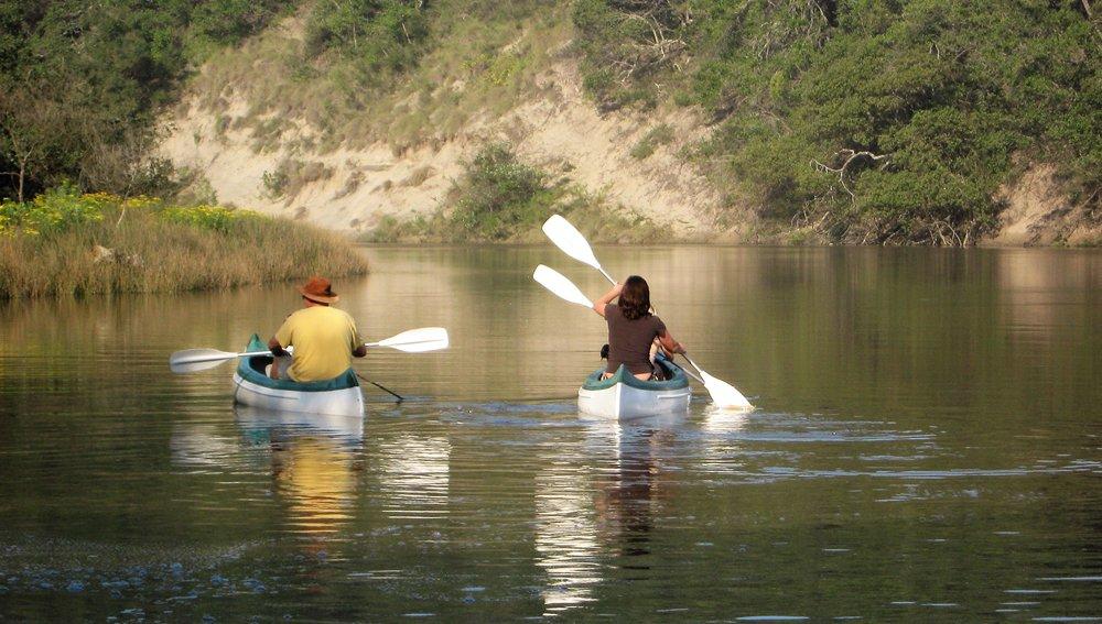 Canoeing Wild Coast estuary