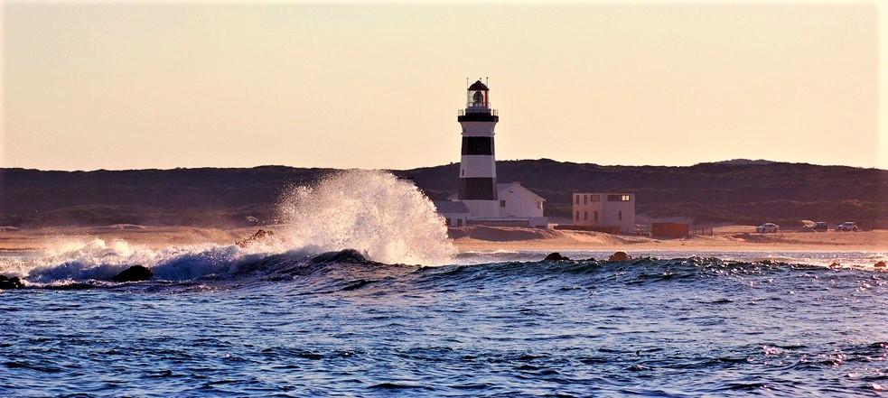 Cape Recife lighthouse, Aloga Bay, Port Elizabeth, South Africa
