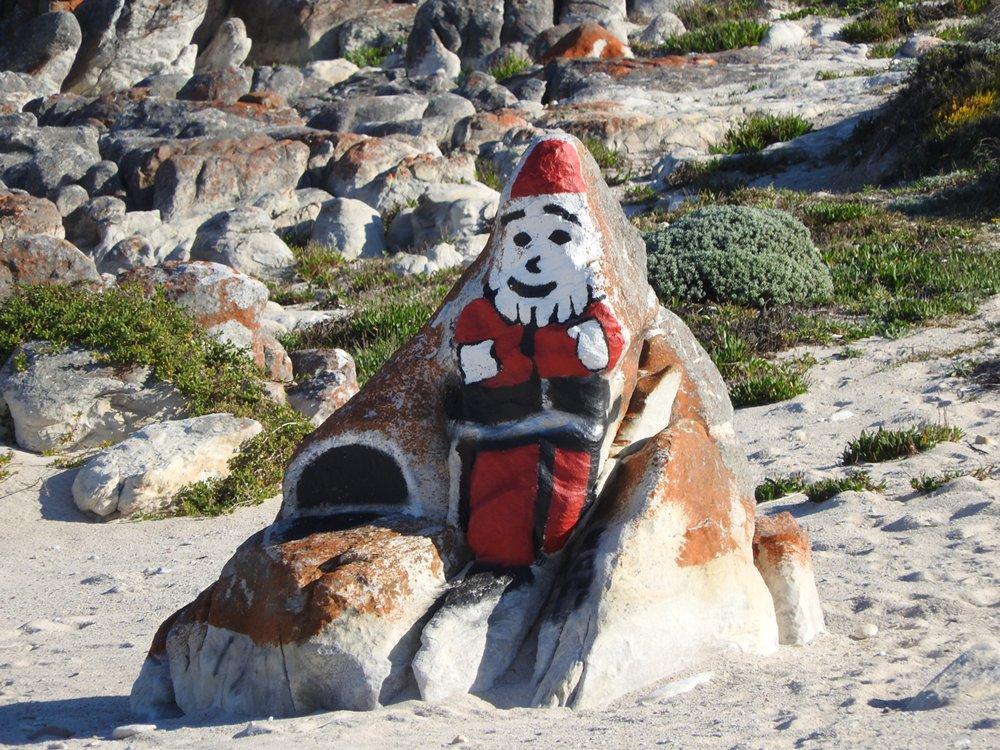 Father Christmas on the Rocks