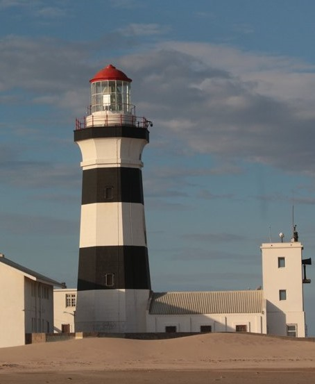 Cape Recife lighthouse, Port Elizabeth, Eastern Cape South Africa